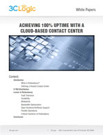 Achieving 100% Uptime with a Cloud-Based Contact Center White Paper Image