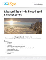 Advanced Security in Cloud-Based Contact Centers White Paper Image