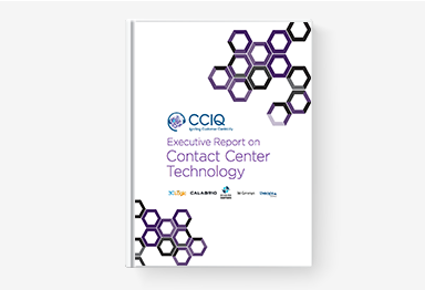 3CLogic's eBook - CCIQ Executive Report on Contact Center Technology
