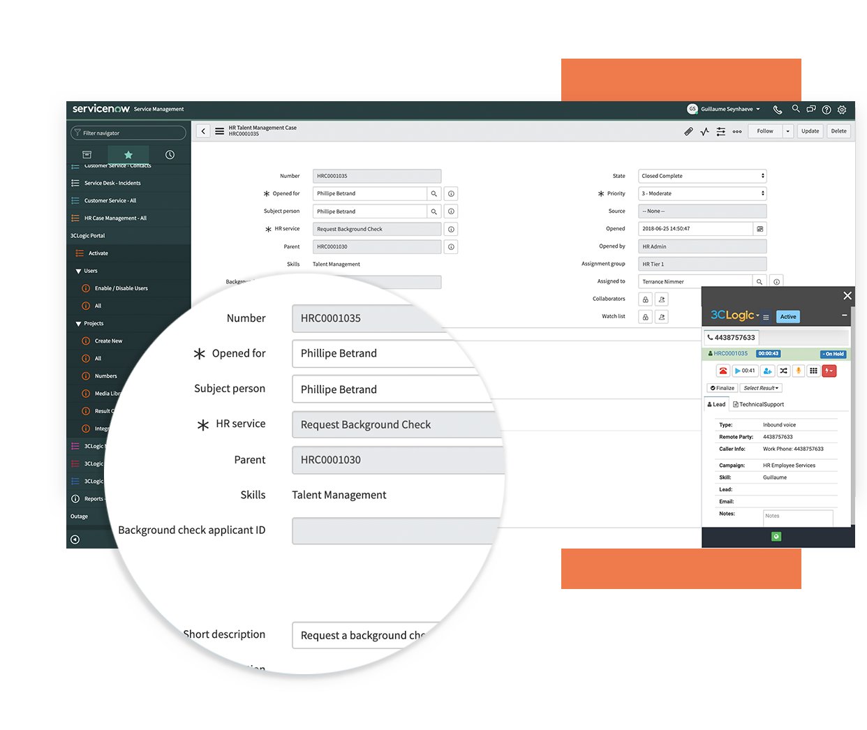 3CLogic-Screen-pop-for-ServiceNow-Employee-Workflows