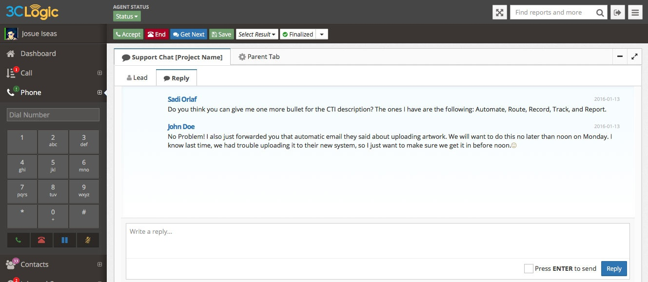 3CLogic - Chat for Customer Service