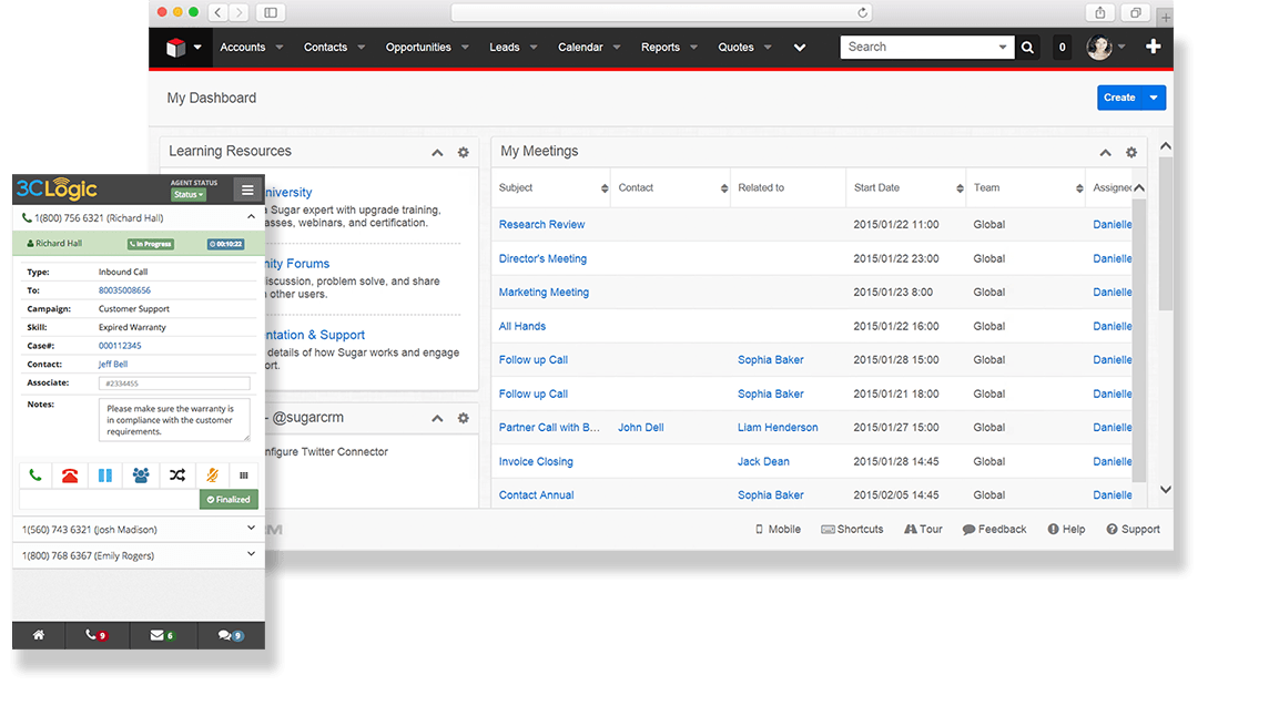 3CLogic and SugarCRM Integration