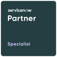 3CLogic & Servicenow Partner Specialist Badge