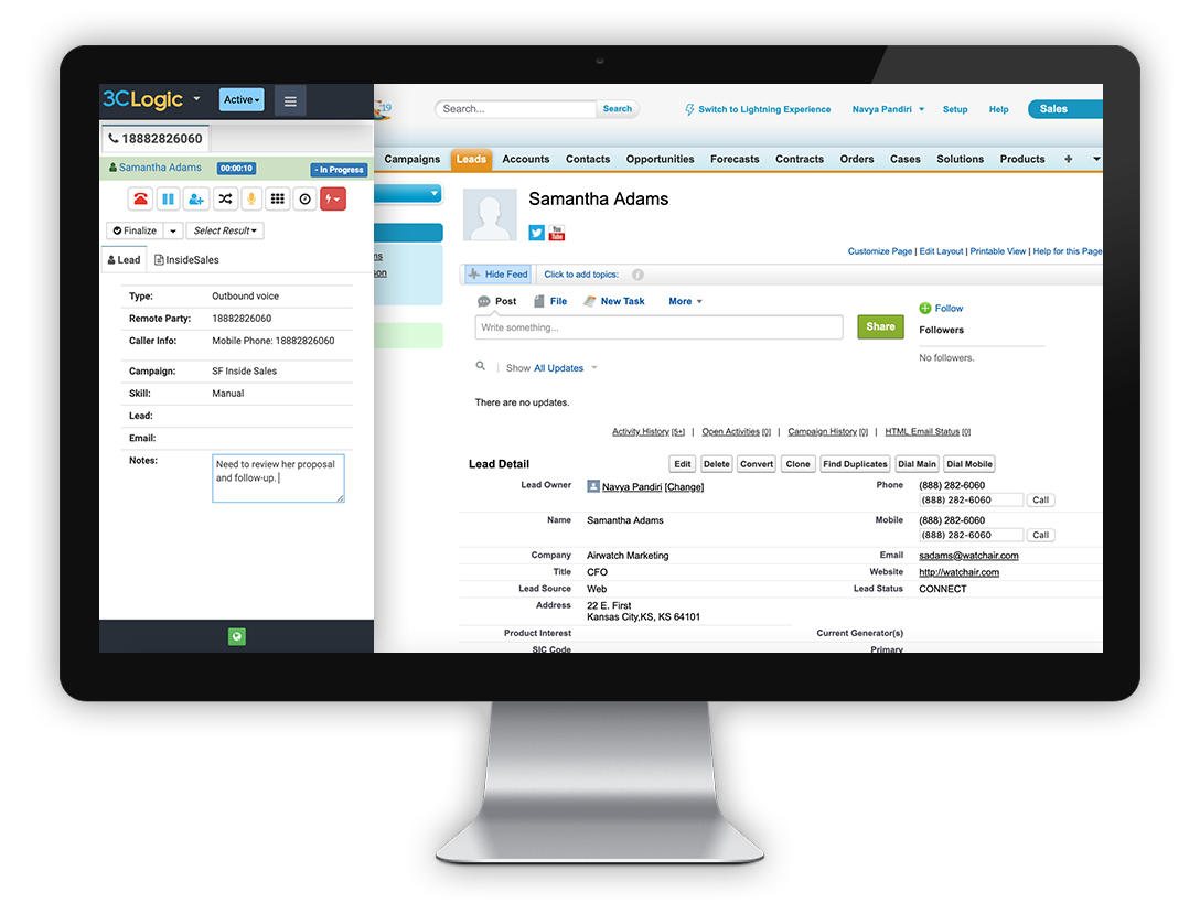 3CLogic-Streamlined-User-Interface-Salesforce