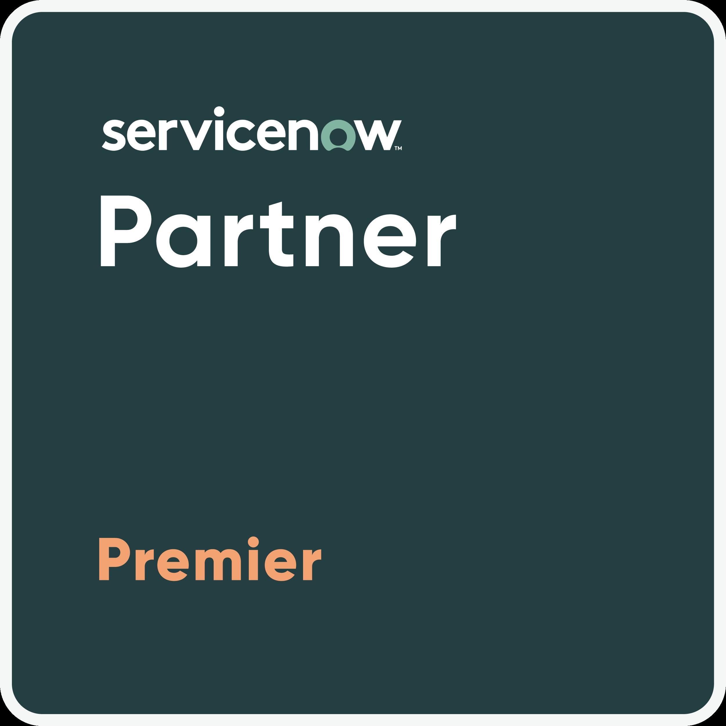 ServicenNow Premier Parner Badge